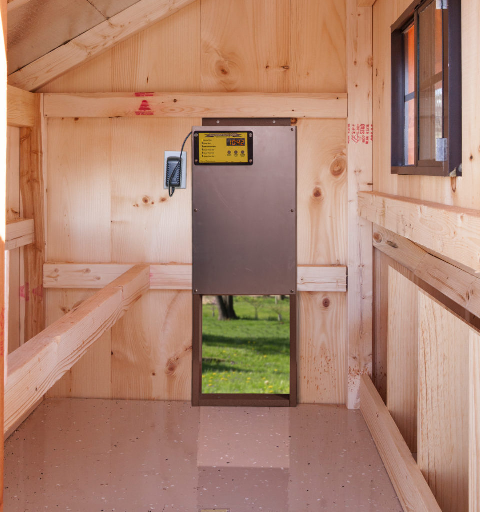 automatic chicken door installed