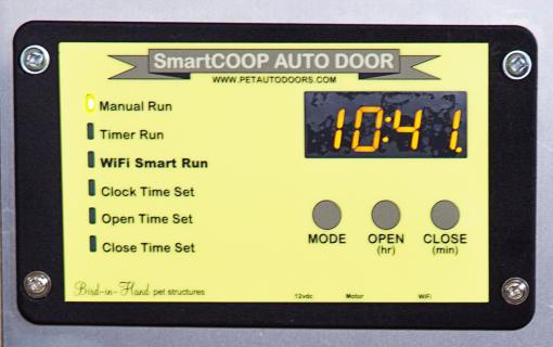 smart coop digital panel pet auto doors